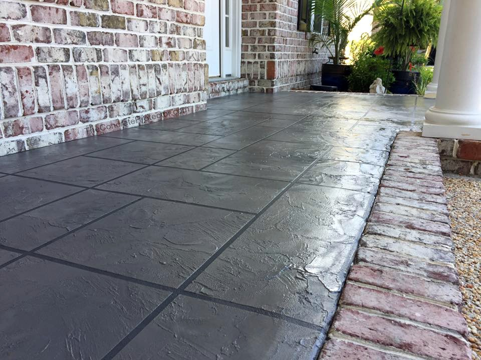 Slate Stained Concrete   Ponder Texas